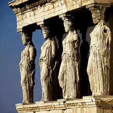 Portico sustained by the Caryatids