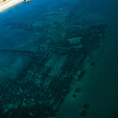Portus Iulius: Submerged Roman port, at 3 to 5 meters of depth