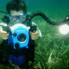 Making a video documentary of the Sanisera Underwater School of Archaeology