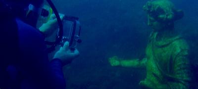 Portus Iulius Statue Submerged