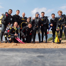 Students of the Sanisera Underwater School of Archaeology