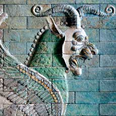 Frieze of Griffins, circa 510 BC, Apadana, west courtyard of the palace, Susa, Iran Susa, Iran, The Louvre Museum