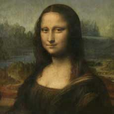 Portrait of Mona Lisa, by Leonardo da Vinci. It can be seen in The Louvre museum (Paris)