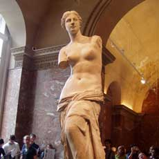 Venus de Milo in The Louvre Museum (Paris)