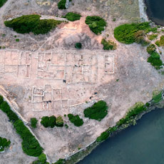 Aerial view of Roman City of Sanisera