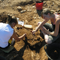 Digging a Roman amphora in detail