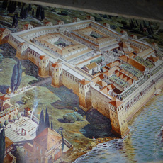Hypothetical reconstruction of the palace of Emperor Diocletian in Split