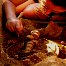 Digging bones from the roman graves in Sanisera