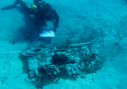 Underwater Archaeology excavation of a shipwreck