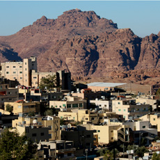The Wadi Mussa village in Petra