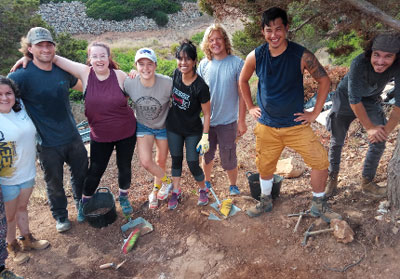 Students group of Archaeological dig in Sanisera