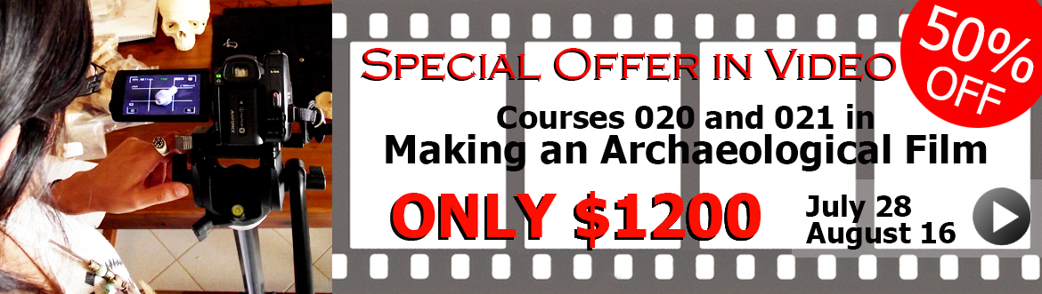Special offer in archaeological film courses